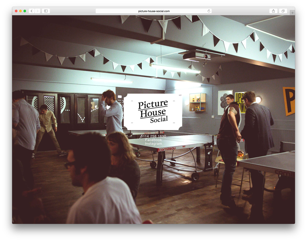 Picture House Social website